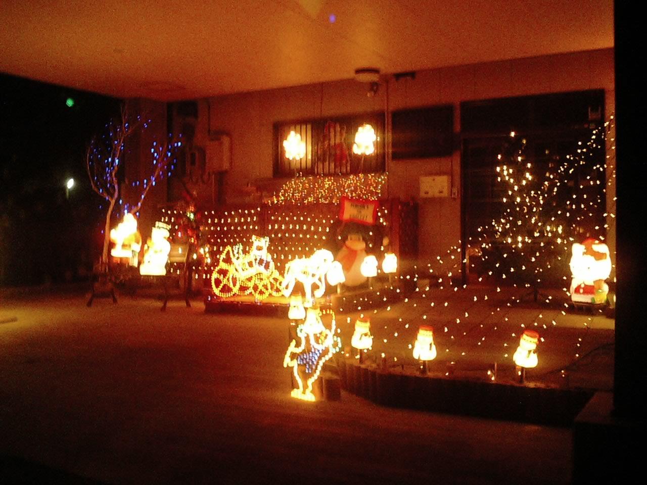 クリスマス飾りすごい家