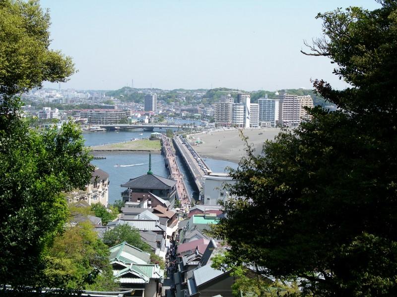 江ノ島入り口道路