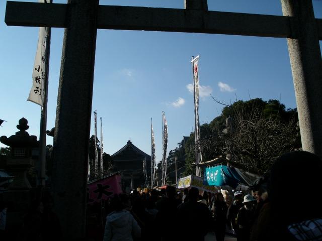初詣 豊川稲荷 天気最高!