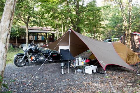 10月連休2日目は田貫湖近くのキャンプ場