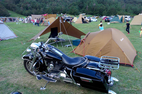 バイクでマキノ高原キャンプ場
