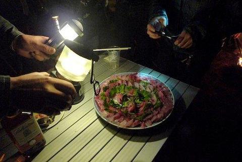 桜まだ咲かずキャンプ BH精進湖2013