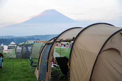 夏のファミリーキャンプはふもとっぱらキャンプ場