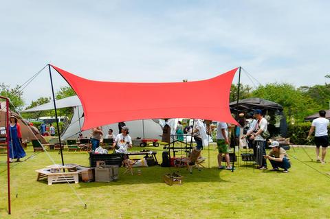竜洋のキャンプ場でグッドホールフェスティバル