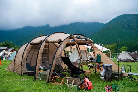 夏休みは田貫湖でファミリーキャンプ