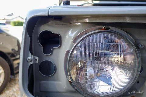 ジムニーJA22ヘッドライト交換 - シールドビームからH4バルブ交換式