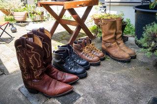 梅雨の時期にブーツのカビ取りメンテナンス