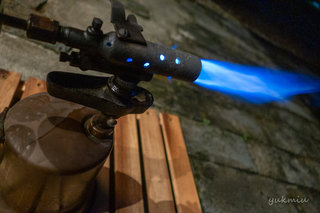 倉庫で昔の武井バーナートーチランプを発見!修理して着火してみました