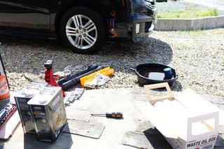 ステップワゴンのルームライト故障修理とオイル交換