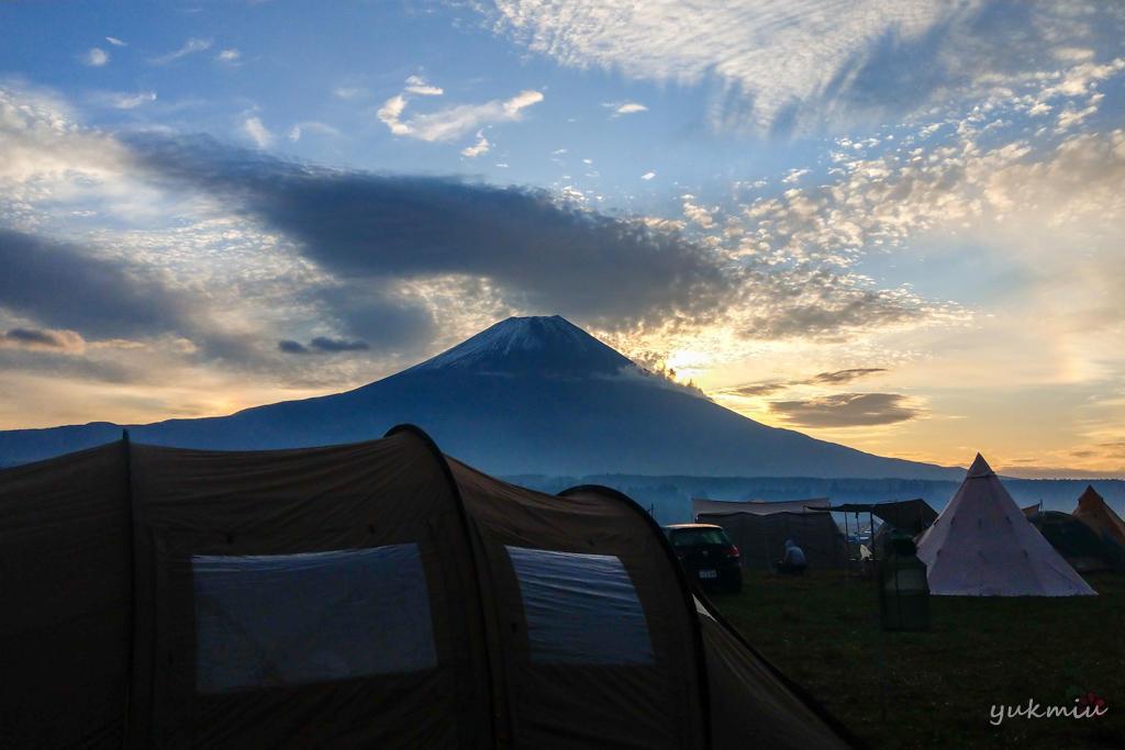 ふもとっぱらキャンプ場で日の出